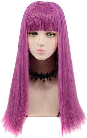 wig Peluca Descendants 2 Mal Cosplay Pelo Largo Liso, Color Morado ...
