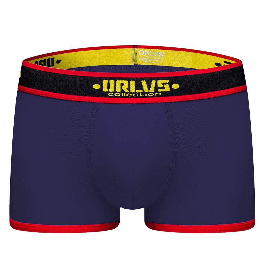 Shorts for Men Summer Simayixx Men's Comfort Flex Waistband Boxer Briefs Swim Trunks Teen Boys Beach Underwear Underpant Navy by Simayixx Blouse (Image #5)