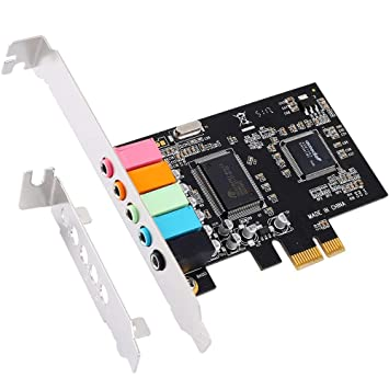 Amazon.com: PCIe Sound Card, 5.1 Internal Sound Card with ...