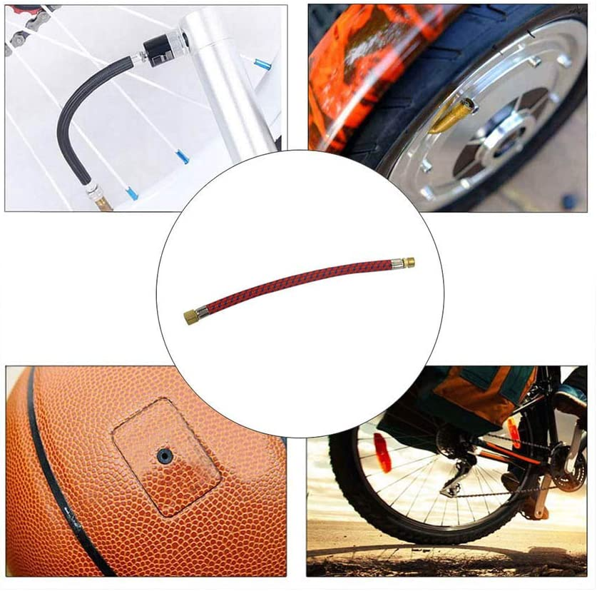 Bicycle Inflate Pump Hose Extension Tube Needle Football Basketball Air Bed Tyre