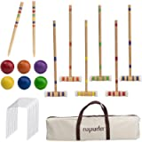 ROPODA Six-Player Croquet Set with Wooden Mallets, Colored Balls, Sturdy Carrying Bag for Adults &Kids, Perfect for Lawn…