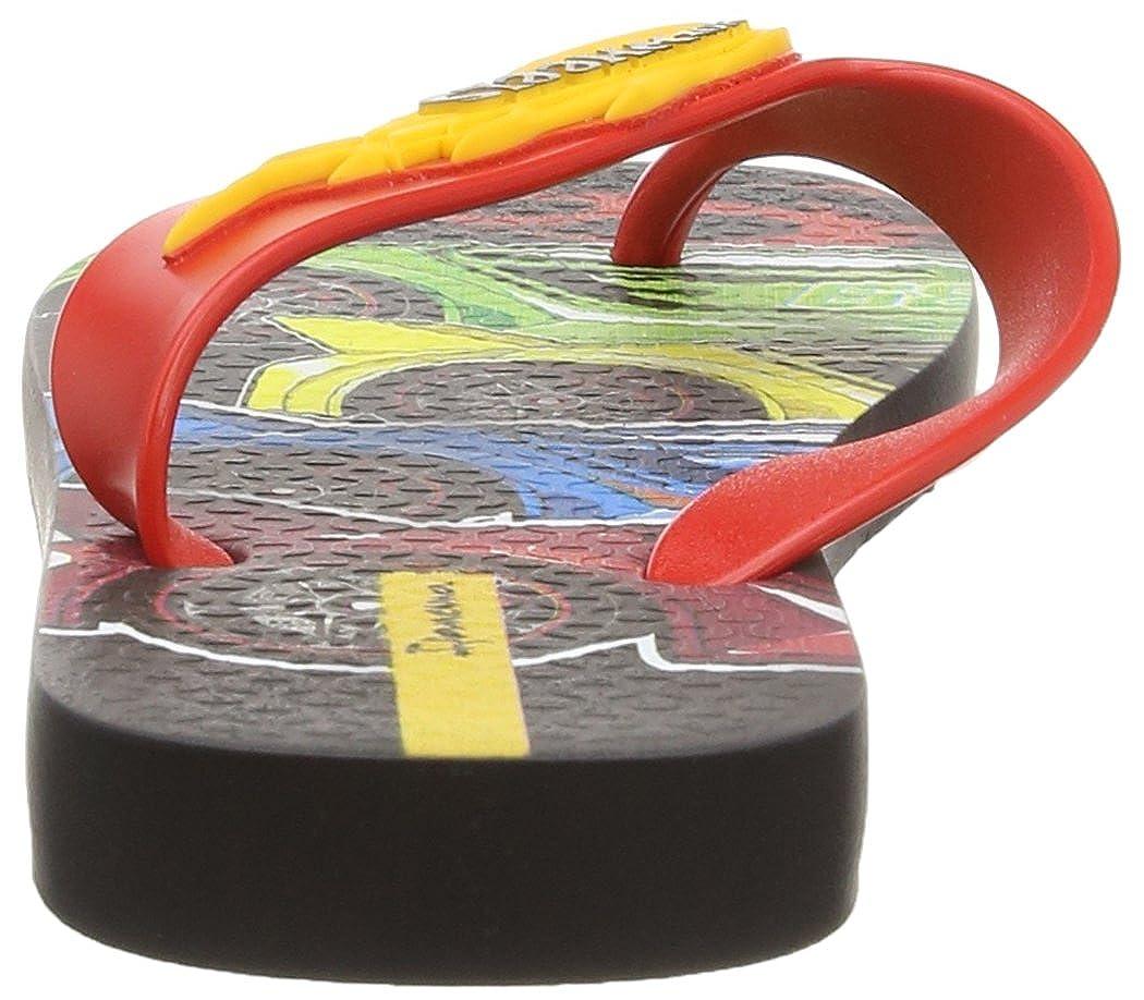 Ipanema Hot Wheels Tyres Boys/' Flip Flops Red