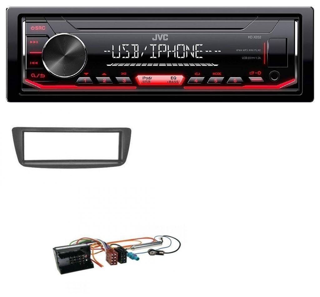 JVC 1DIN AUX USB MP3 Autoradio für Citroen C1 Peugeot 107 05-14