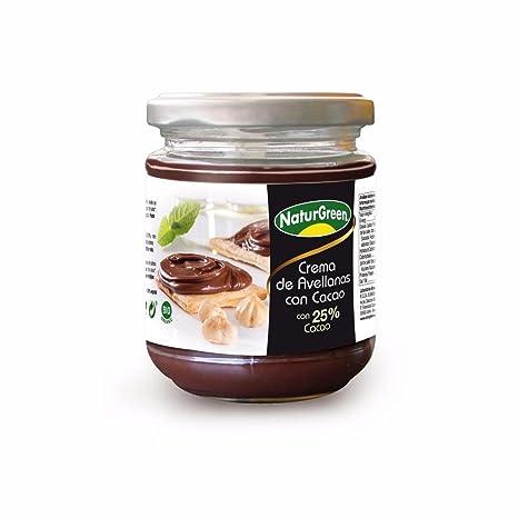 Crema Avellanas Cacao 25% NaturGreen 200g: Amazon.es: Alimentación y bebidas