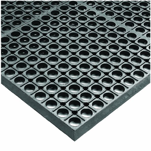 Rubber Nitrile Heavy Duty Mats (Wearwell Rubber 478 WorkSafe Heavy Duty Anti-Fatigue Mat, for Wet Areas, 3' Width x 10' Length x 1/2