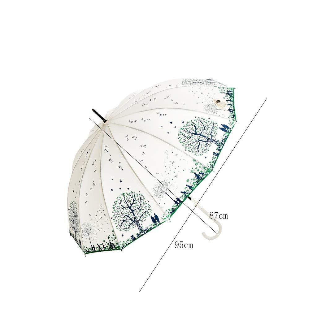 CS-YP Paraguas, Paraguas de Mango Largo, Gorra de Paraguas ...