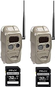 Cuddeback J-1538 CuddeLink J Series Black Flash Camera Set of 2 Cameras with 2 SD 32 GB Cards