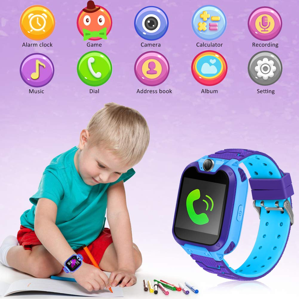 Kids Smart Watch for Kids SmartWatch with 1.54 Inch IPX5 Waterproof Color HD Display Touch Screen Digital Camera Game Music Learning Toys Call Watch 3-12 Ages Boy Girl Best Birthday Gift by GUANLV (Image #4)