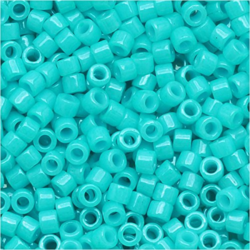 - Miyuki DB-658 11/0 Dyed Turquoise Green 7g Delica Seed Bead