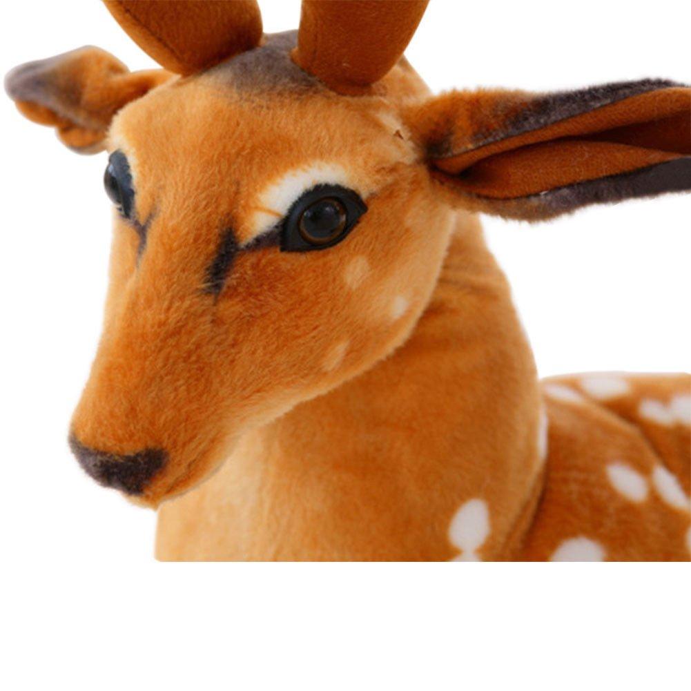 Hzjundasi Simulaci/ón artificial animales de peluche ciervos juguetes lindos suave mu/ñeca mu/ñeca regalo 40cm