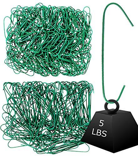 Iconikal 450 Heavy Duty Green Christmas Tree Ornament Hooks