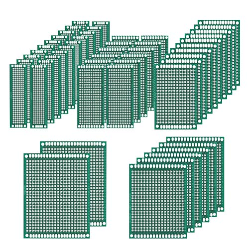 50 Pcs Double Sided PCB Board Prototype Kit