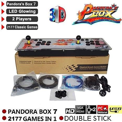 2177 en 1 Juego Arcade Retro 3D Clave de Pandora 7 Caja Consola ...