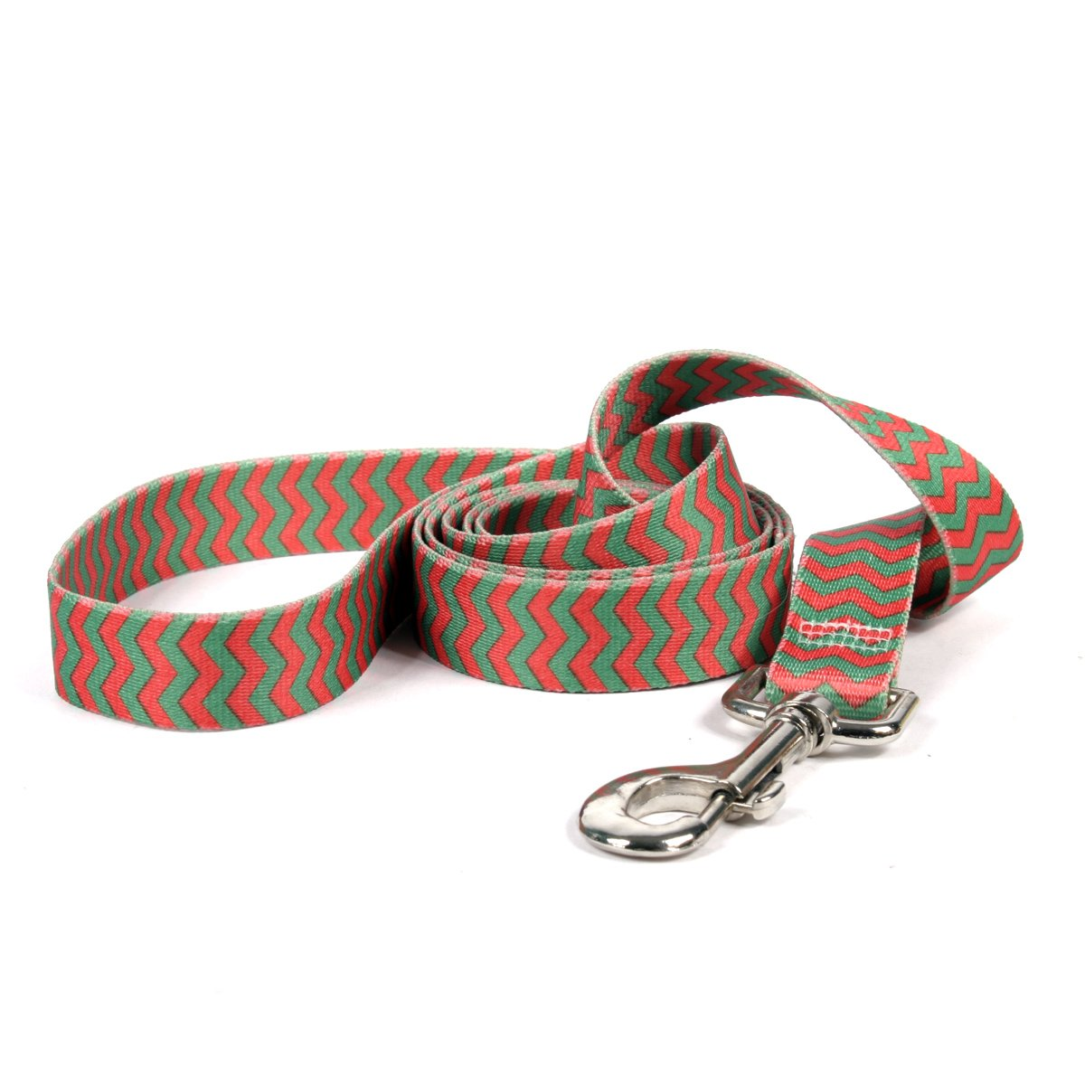 Yellow Dog Design, Christmas Chevron Dog Leash, Extra Small 3/8'' x 60'' (5 ft.)
