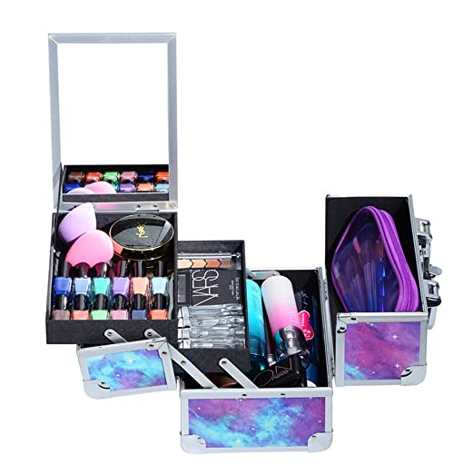 Amazon.com: Joligrace Maquillaje Train Case con Espejo: Beauty