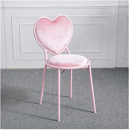 FU_BIN Chaise de bar en fer forgé en forme de coeur chaise ...