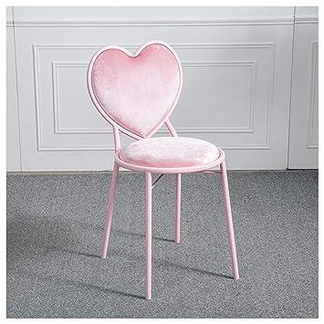 Tabourets Chaise de bar en fer forgé en forme de coeur chaise de ...