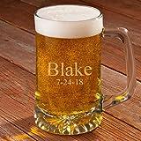 Personalized 25 oz. Beer Mug - Monogrammed Beer Mug - Engraved Groomsmen Beer Mug
