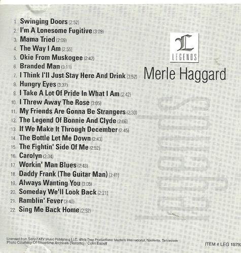 Legends: Merle Haggard