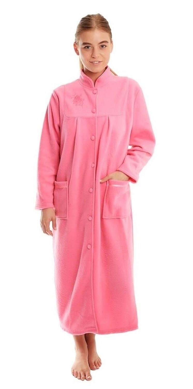 Ladies Fleece Dressing Gown, bathrobe Housecoat Size 10 12 14 16 18 20 22 24 lady olga