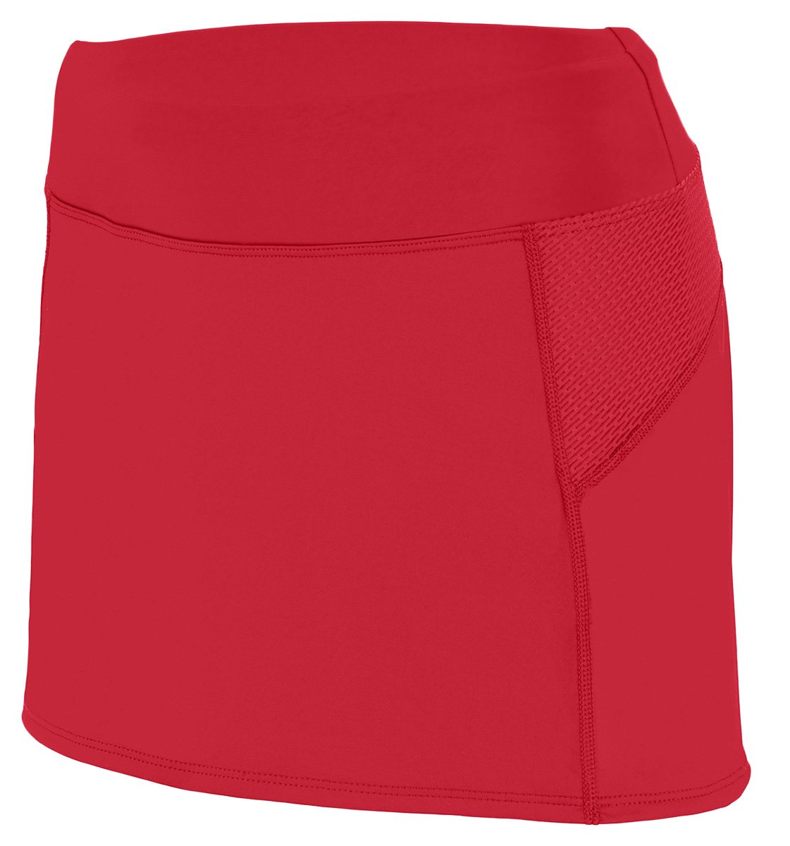 Augusta Sportswear Women's Wide Flat Knit Skort, Red/Graphite, X-Small