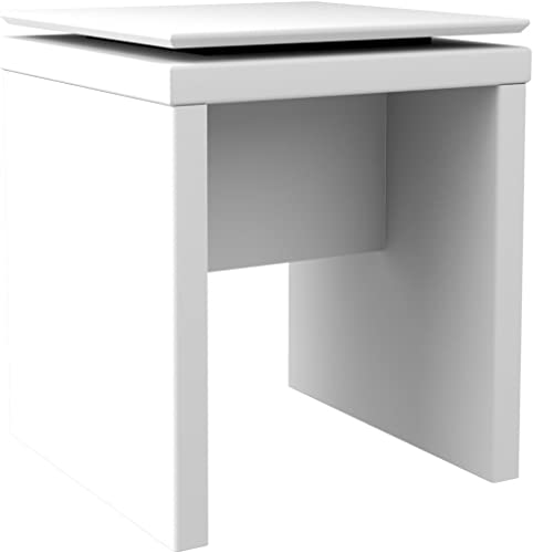 Manhattan Comfort Lincoln Square End Table, White Gloss