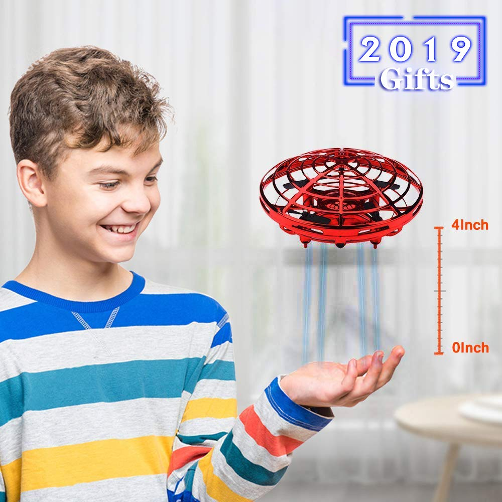Mini Drone for Kids Beginner Hand Controlled,UFO Flying Ball Toys with 360° Rotating Hovering and LED Lights,Quadcopter Drone Toy for Kids Party Favors Indoor Outdoor,RC Helicopter Kids Birthday Gift by Camlinbo (Image #5)