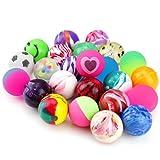 Biging 24 PiecesJet Bouncy Balls 25mm Mixed Colour Party Bag Filler for Children