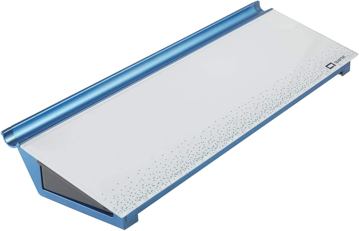 "Quartet Glass Desktop Computer Pad, 18"" x 6"", Whiteboard, Dry Erase Surface, Dot (GDP186D)"