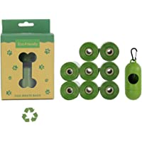 Compostable Dog Poop Bags, YanYoung 8 Rolls 120 Count Eco-Friendly Waste Bags for Dog and Cat,Each Strong Biodegradable…