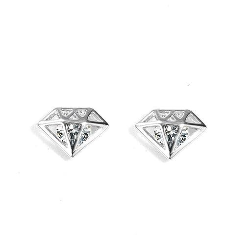 S925 Sterling Silver Earring Triangle Pearl Gold Stud Earrings For Women Wedding
