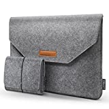 HOMIEE 15.4-15.6 inch Laptop Sleeve with Extra Storage Case and Mouse Pad for MacBook Pro Acer/Asus/Dell/Lenovo/HP/Chromebook, 15.6 Inch Felt Sleeve Netbook Laptop Case Protector Bag (Light Gray)