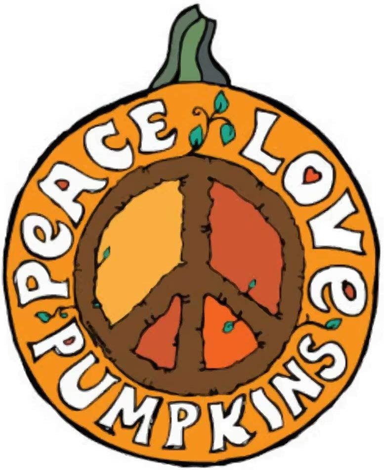 Autumn Halloween Peace, Love, Pumpkins Magnet for Cars, Lockers, and Offices
