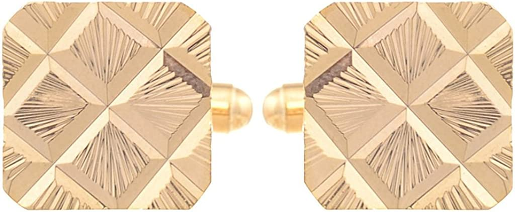 TRIPIN Men's Golden Square Cufflinks for Men