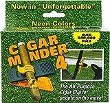 Cigar Holder Clip - Orange Cigar Minder - 5 Pack