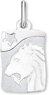 Amor Unisex-Anhänger Sternzeichen Löwe 925 Sterling Silber rhodiniert teilmattiert - 166638