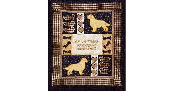Amazon pegasus originals golden retriever quilt applique pattern