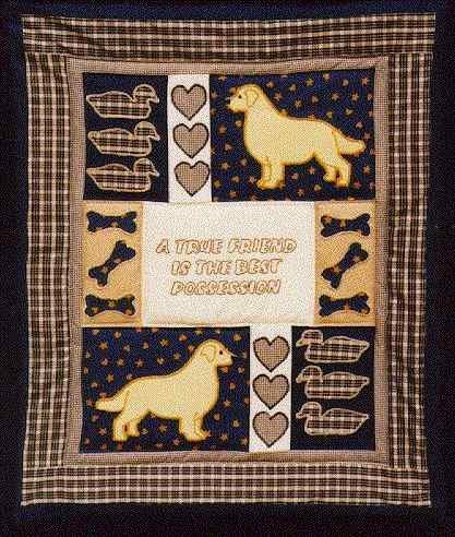 Amazon Pegasus Originals Golden Retriever Quilt Applique Pattern Custom Dog Quilt Patterns