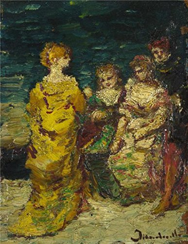 [The Perfect Effect Canvas Of Oil Painting 'Adolphe Monticelli - Subject Composition,probably 1870-90' ,size: 24x31 Inch / 61x79 Cm ,this Vivid Art Decorative Prints On Canvas Is Fit For Home Office Decoration And Home Decor And] (Funny Current Halloween Costumes Ideas)