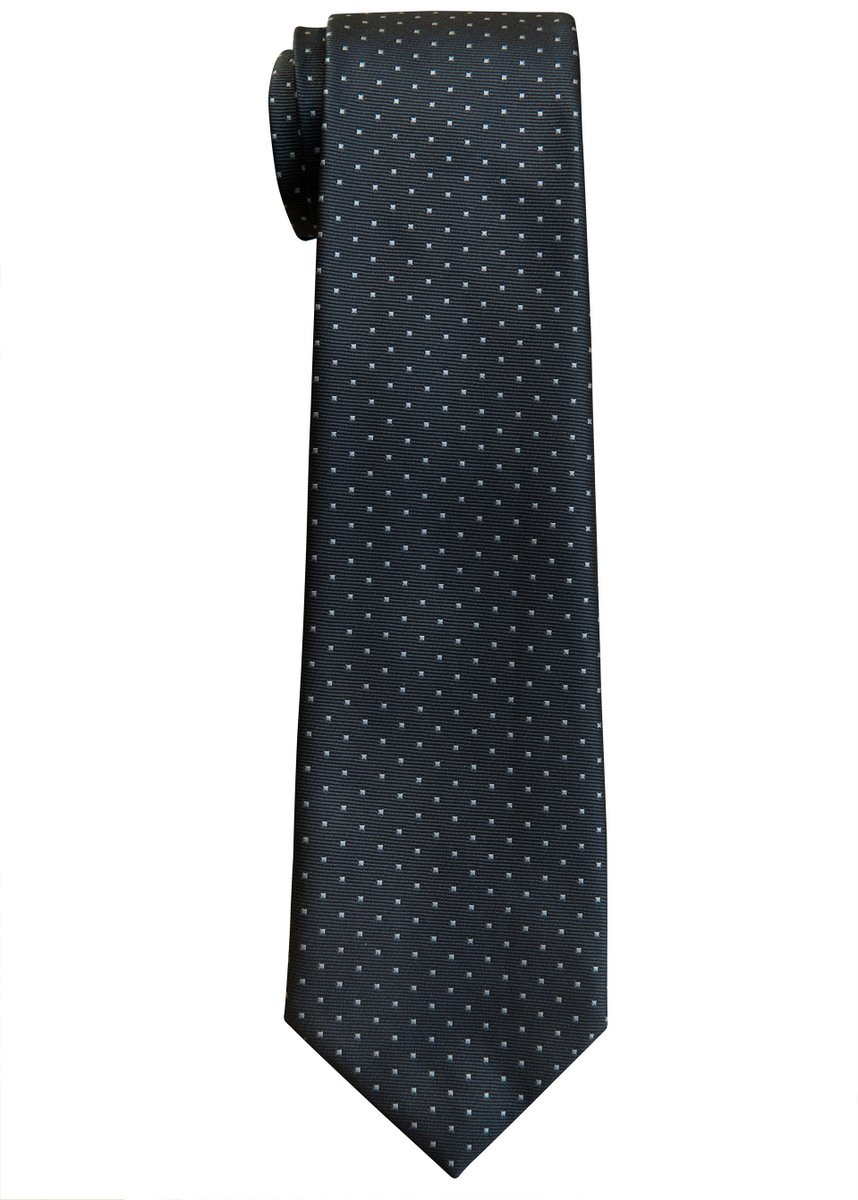 Retreez Pin Dots Woven Microfiber Boy's Tie (8-10 years) - Grey with Light Grey Pin Dots