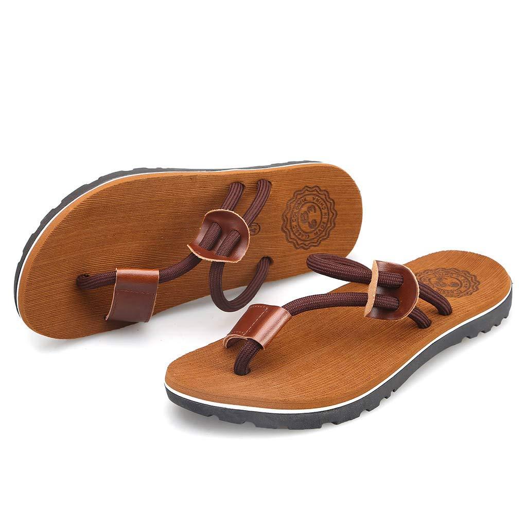 Ennglun Mens Flip Flops Mens Flat Flip Flops Slippers Beach Shoes Outdoor Antiskid Shoes Flip Flop