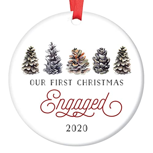 Engaged 2020 Christmas Ornament Amazon.com: First Christmas Engaged Ornament 2020 Pretty Winter