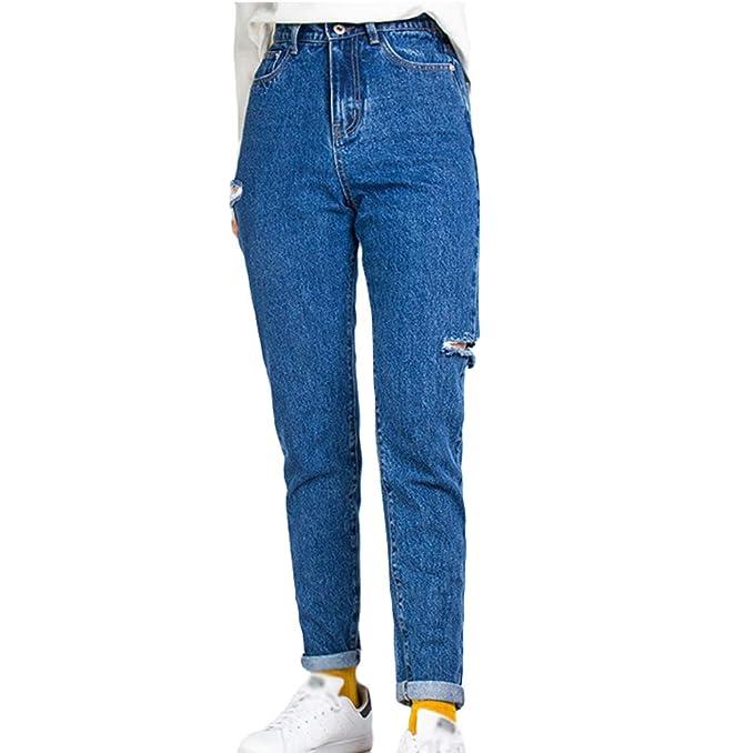 TianBin Jeans para Mujer Elástico Talle Alto Casual Skinny ...