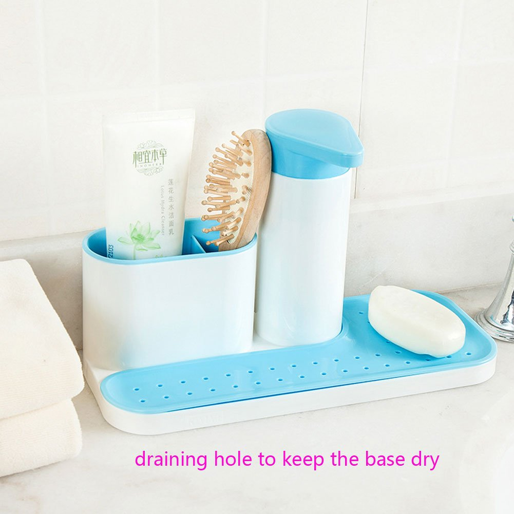 Egoelife Kitchen Bathroom Sink Caddy Organizer Holder Drying Rack ...