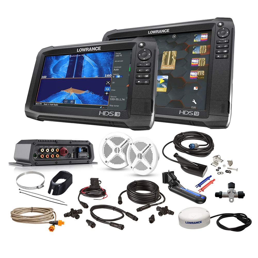 CHEAP Lowrance HDS Carbon Boat in a Box Fishfinder Chartplotter Package -  Reviews VIDEO - Special Discount Today