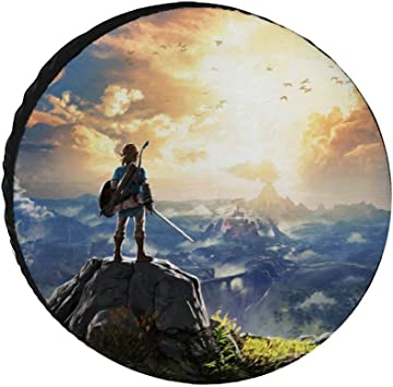 14-17 in Legend of Zelda Breath of The Wild Tire Cover Wheel Covers Portable Universal Waterproof Tire Covers for Jeep RV SUV Truck Travel Trailer Accessories