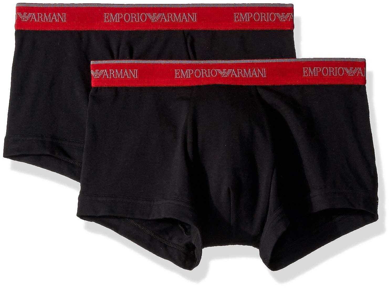 TALLA X-Large. Emporio Armani Underwear 1112107a717, Boxer Hombre, Paquete de 2