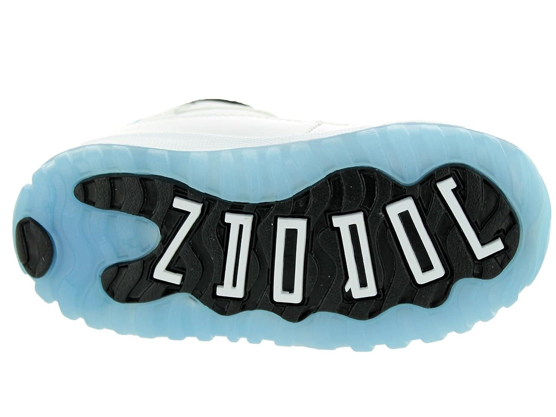 dd8979ace11 Amazon.com | Jordan Kids Retro 11 (Td) WHITE/BLACK/LEGEND BLUE 378040-117 |  Sneakers