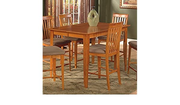 Leo /& Lacey Counter Height Pub Dining Table in Caramel 36 x 60 Solid Table