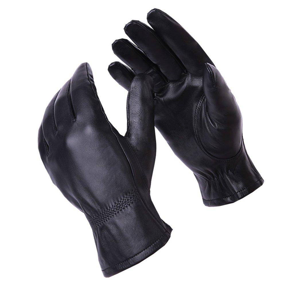 && Lederhandschuhe Herren Winter REIT Warme Handschuhe Schwarz